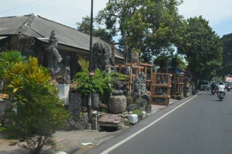 Stone sculptures ... There were stores galore